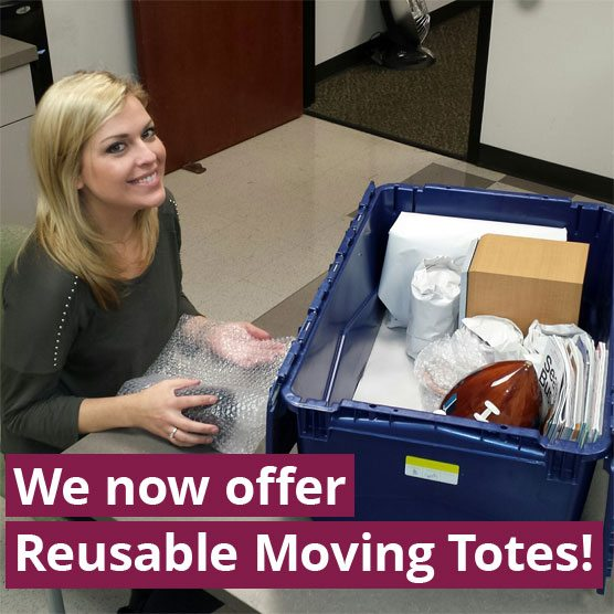 Now offering Reusable Moving Totes
